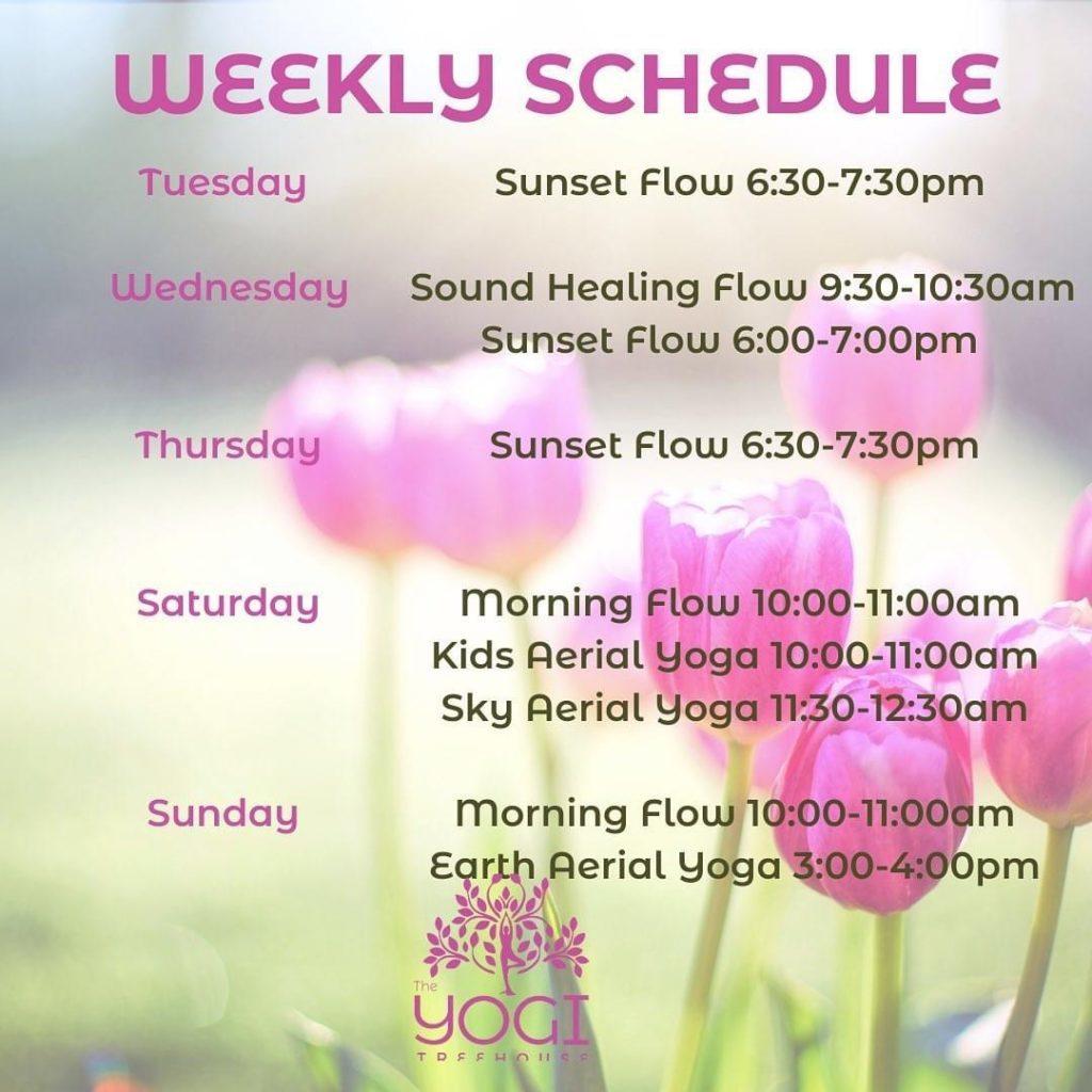 Spring yoga schedule